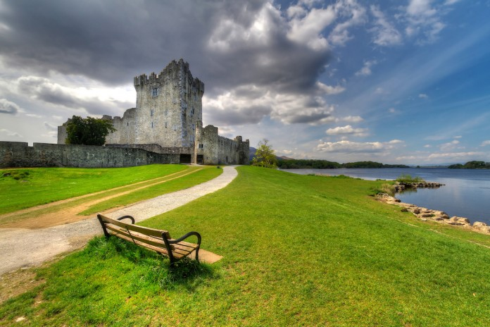 Il Ross Castle a Kerry, in Irlanda