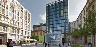 Un randaring dell'Apple store a Milano